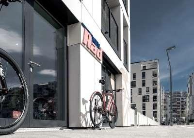 Wien Rad Fahrradgeschäft von außen