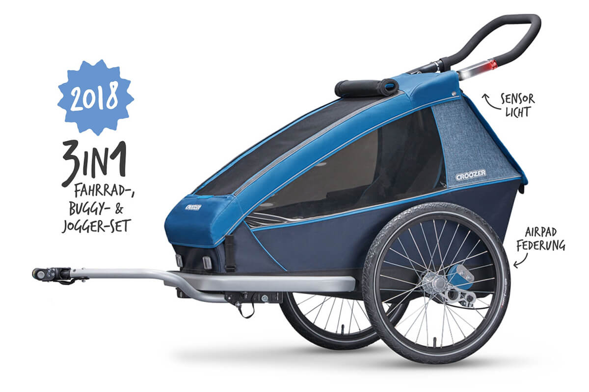 Croozer Kid Plus for 1 Kinderfahrradanhänger Modell 2018
