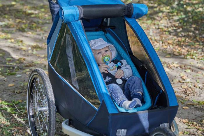 Croozer Kid Plus for 1 Kinderfahrradanhänger Modell 2018 im Einsatz