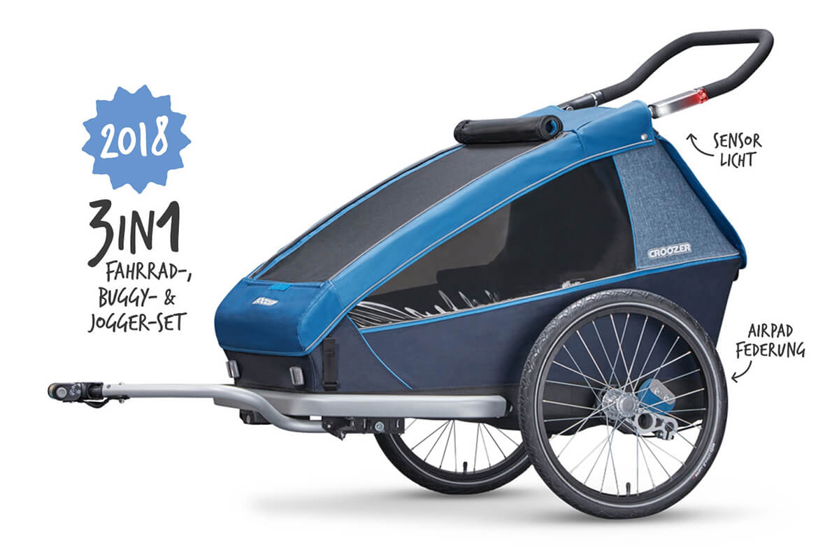 Croozer Kid Plus for 2 Kinder Fahrradanhänger Modell 2018