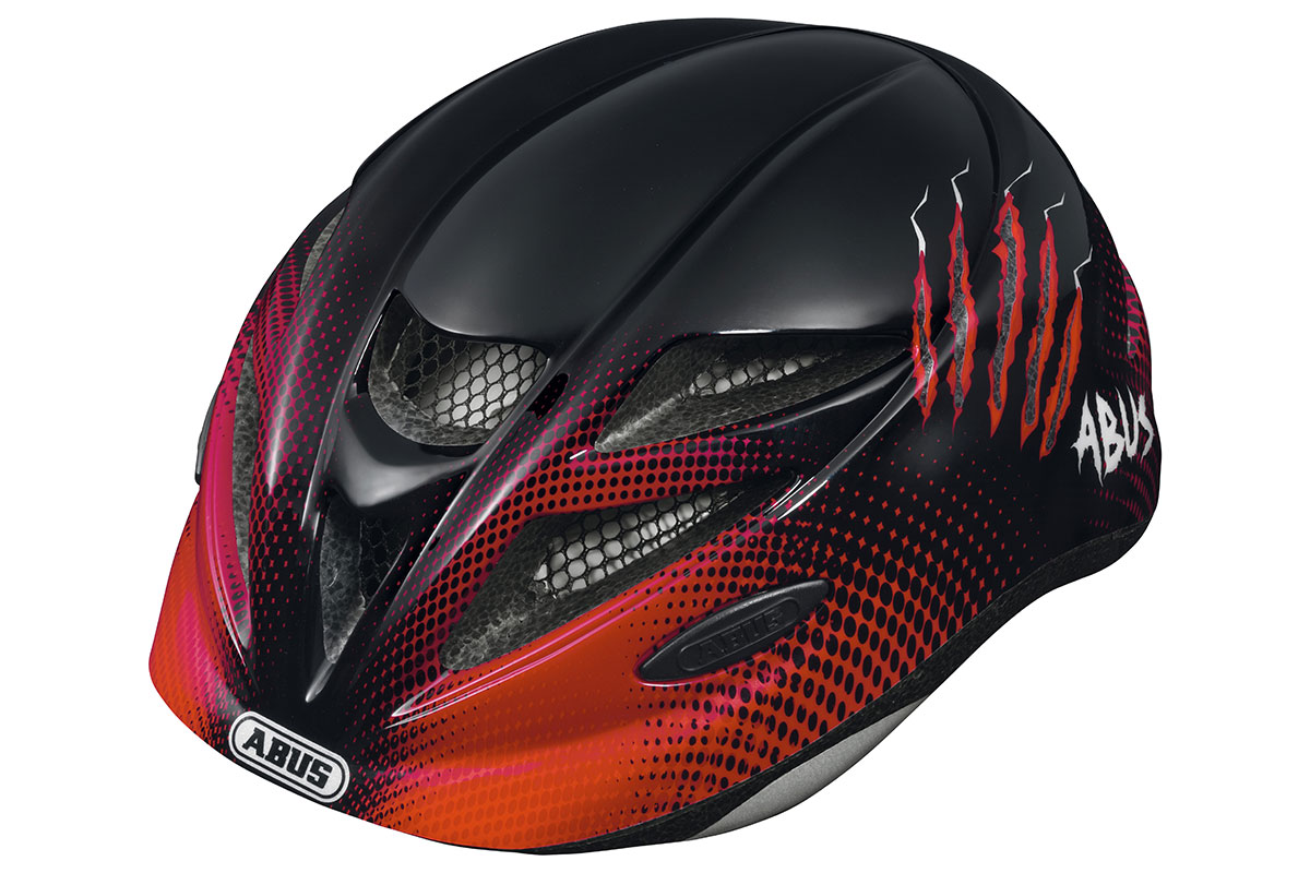 ABUS Hubble red scratches Kinderhelm