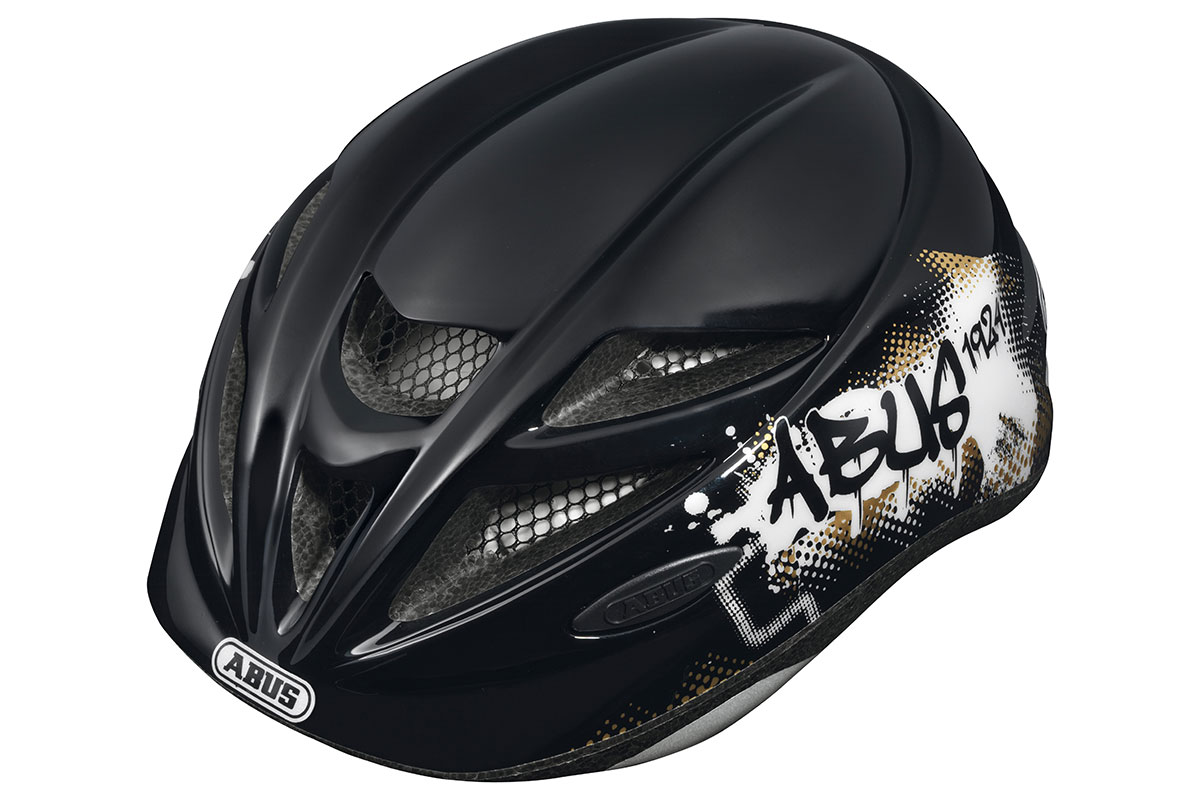 ABUS Hubble black-white Kinderhelm