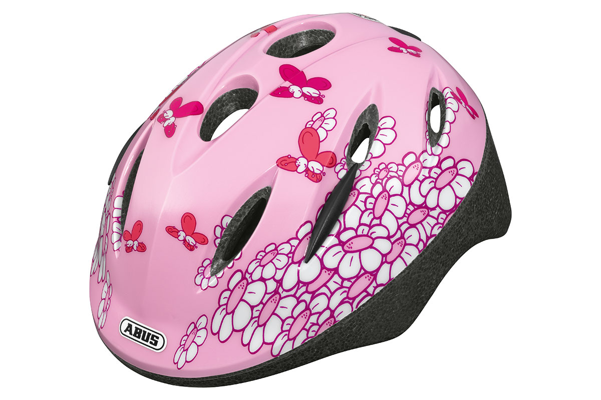 ABUS Smooty Zoom pink butterfly Kinderhelm