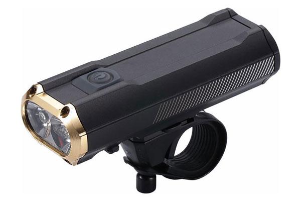 BBB Sniper 1200 LED Frontscheinwerfer BLS-110 mit USB Ladebuchse schwarz gold
