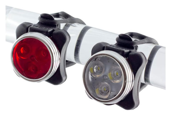 FUNBIKE BASIC Zecto LED Akku/USB Scheinwerfer vorne hinten