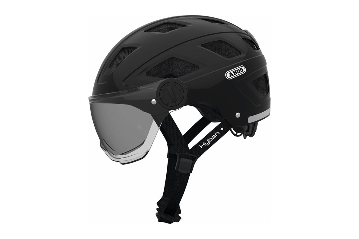 abus HYBAN+ plus smoke visor black urban helm