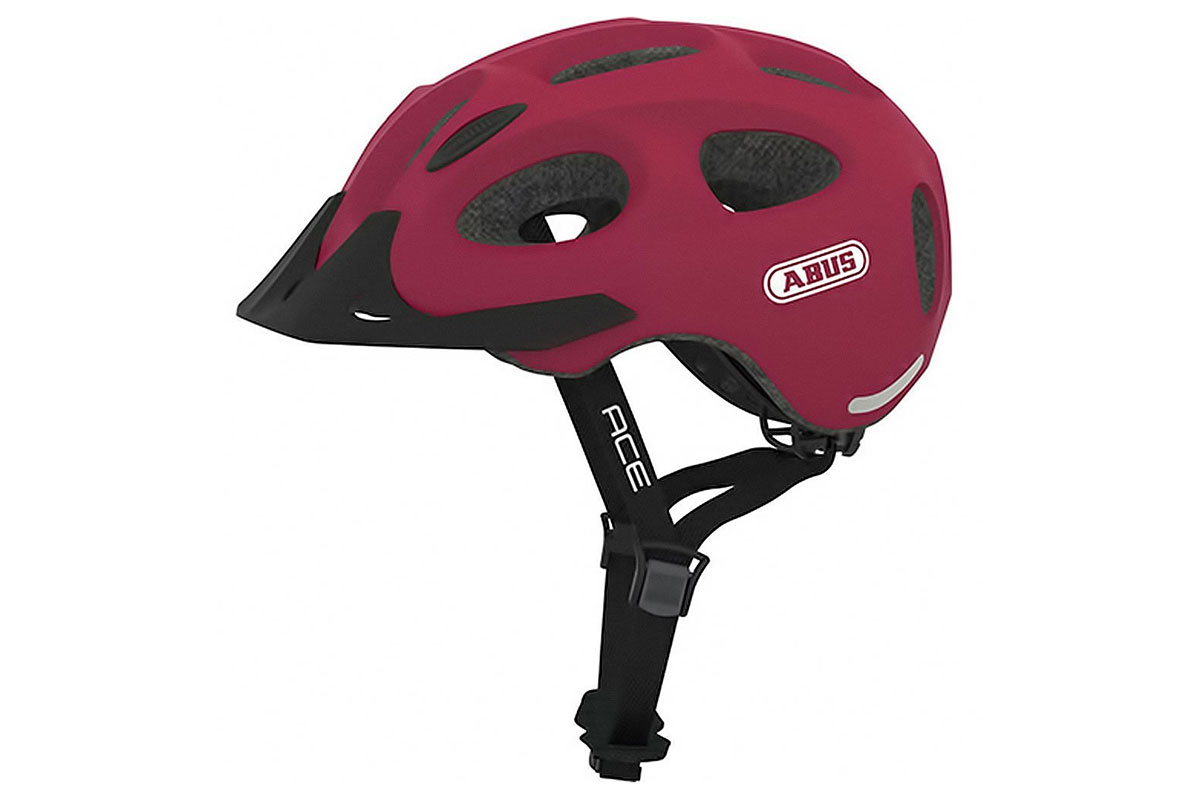 abus youn-i ace cherry red kinderhelm