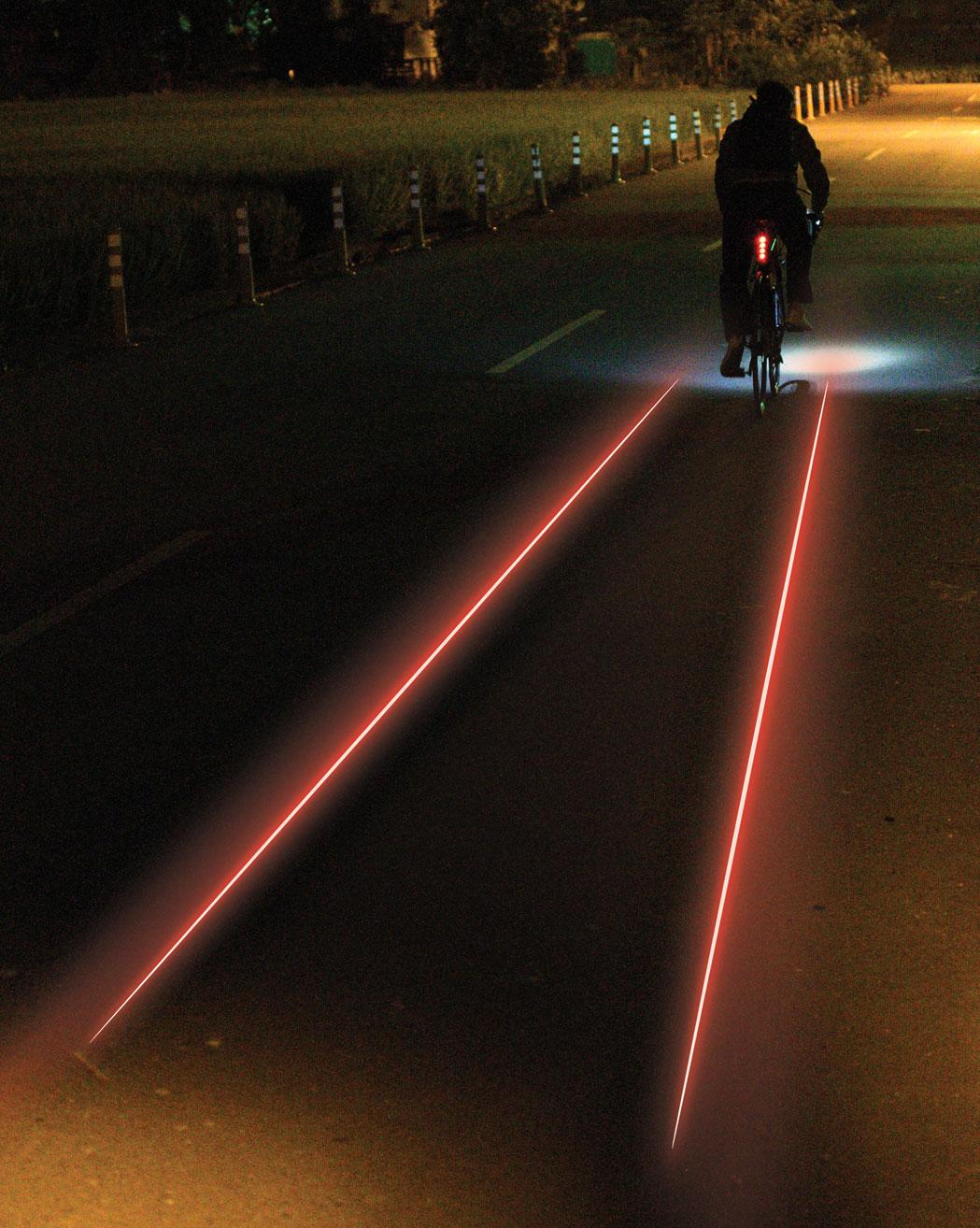 Laser am Boden