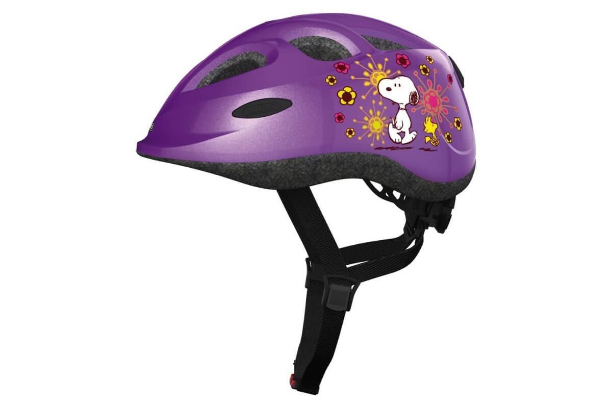 ABUS Smiley Peanuts flower purple Kinderhelm