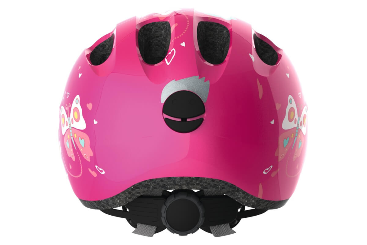 ABUS SMILEY 2.0 pink butterfly Kinderhelm