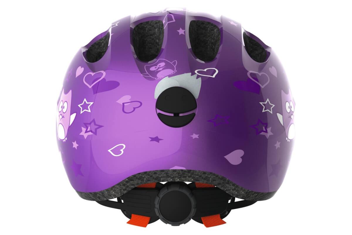 ABUS SMILEY 2.0 purple star Kinderhelm