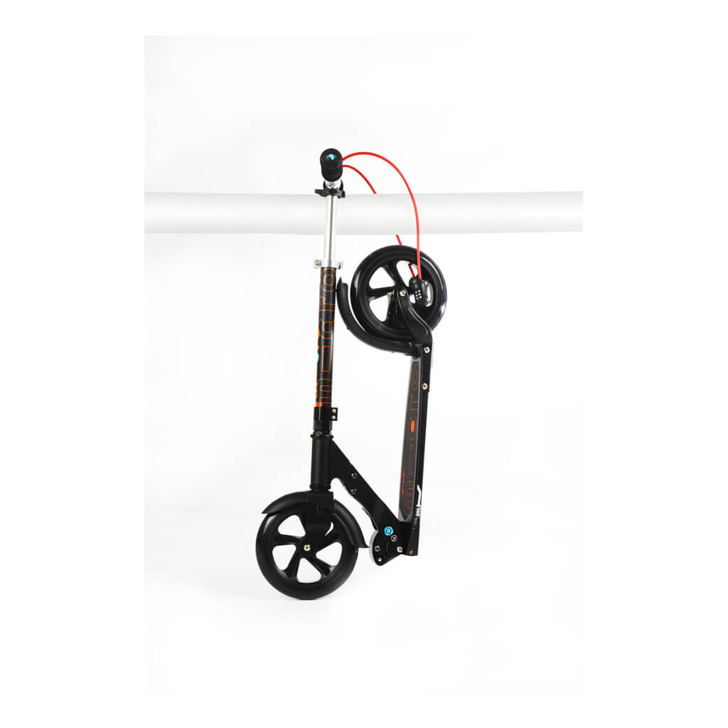 Micro Scooter Black 200mm interlock - Rad gesichert