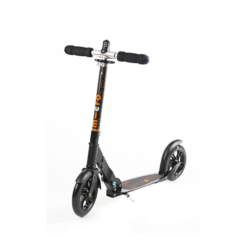 Micro Scooter Black 200mm interlock